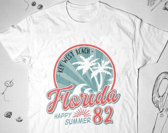 242b69843 Florida shirt Vintage Men Women Girl tee t shirt tshirt Sayings 80s  Vacation Unisex Graphic shirt USA Retro Beach Summer Ocean Gift Idea