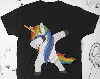 5b572025c64d9d Unicorn shirt Rainbow shirt Graphic tshirt Dab t shirt Men Funny tshirt  Magic t shirt Women Unicorn tshirt Cute shirt LGBT shirt Unisex