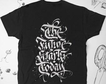 3c84d52bdd Gothic shirt Art Sayings Calligraphy shirt Unisex Men Women Graphic tee t  shirt tshirt Goth Instagram shirt Tumblr shirt Gift for Him Her