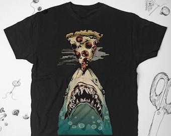 5ad4f407a2625f Jaws tshirt Shark t shirt Men tshirt Pizza shirt Graphic tshirt Food shirt  Women Shark shirt Unisex Jaws shirt Ocean tshirt Funny tshirt 210