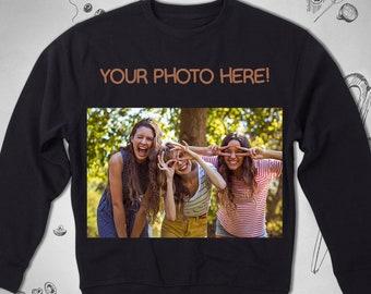 9cf5f7f68bdb Your Photo Custom Personalized sweatshirt Men Women Unisex Graphic  sweatshirt Picture Customized Own Design Crewneck sweatshirt Gift Him Her