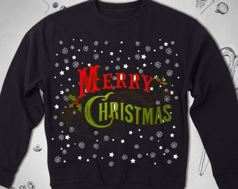 vintage retro 80s 70s 60s christmas sweatshirt graphic men women unisex sweatshirt funny cute merry christmas saying new year winter jumper