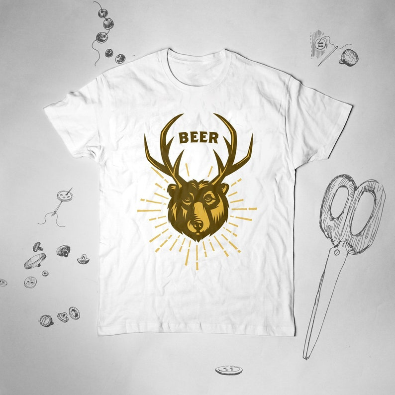 2d7e0468f Bear Beer shirt Men Women Vintage Girl tee t shirt tshirt | Etsy