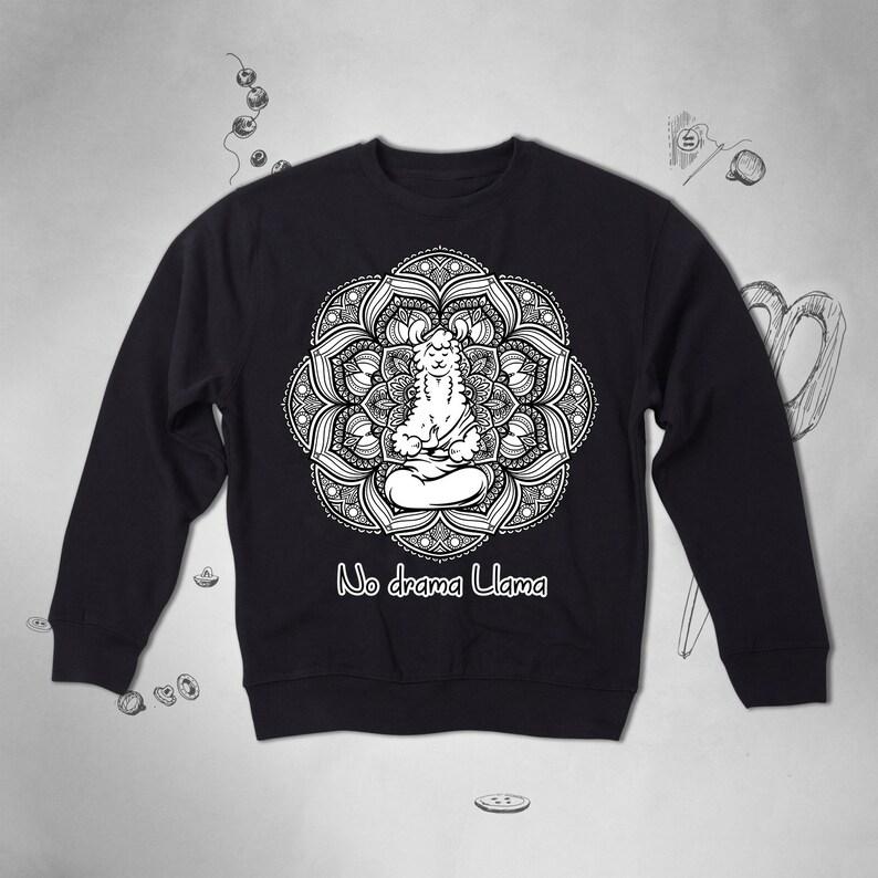 be5601ae2 No Drama Llama sweatshirt Llama Graphic sweatshirt Men Llama | Etsy