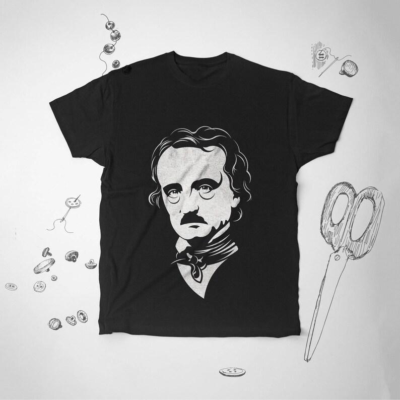 Edgar Allan Poe Tumblr tshirt Edgar Allan Poe tee shirt Book Lover shirt  Literary tshirts Tumblr Gothic t shirt Reader shirt Book tshirt 148