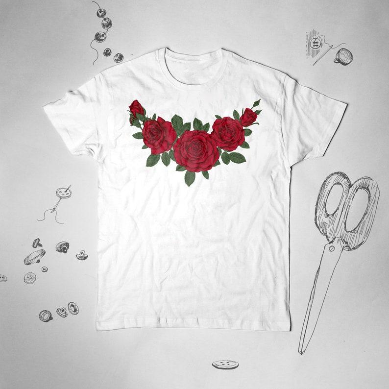 00388834eea99 Roses shirt Graphic tshirt Hipster shirt Women Tumblr tshirt Men Vintage  shirt Roses t shirt Flowers shirt Floral shirt Plant Botanical tee