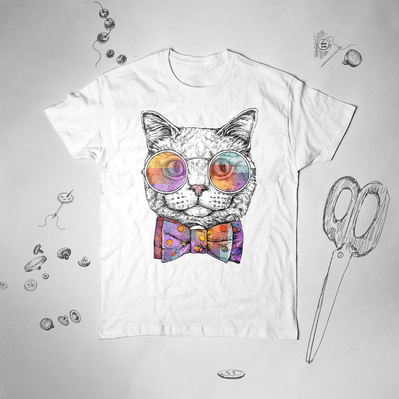 7de0be19030 Cat Kitten Cute Pop Art shirt Unisex Men Women Graphic tee | Etsy