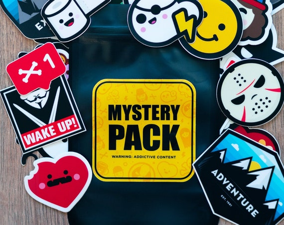 Mystery Pack, Mystery Stickers Pack, Hydro Flask Stickers, Waterbottle Stickers, Computer Stickers, Kawaii Mystery Bag, Planner Stickers