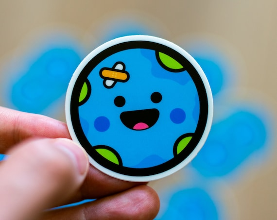 Cute Earth Sticker