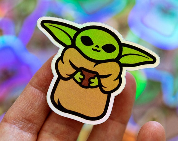 Baby Yoda-inspired stickers