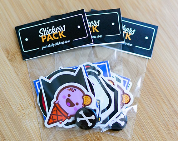 1 YEAR STICKERS Subscription, 5+ Stickers Every Month delivered to your door! Free Shipping Worldwide