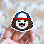 Dustin inspired sticker, Hawkins, Dusty-bun, Suzie-poo, Walkie Talkies, Stranger Things Themed Stickers, PVC Waterproof Cartoon Sticker