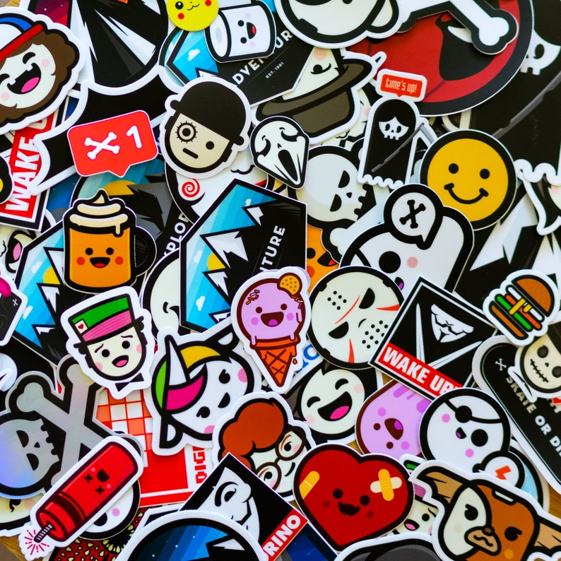 DELUXE Collection STICKERS 50 Stickers laptop sticker Vinyl image 0