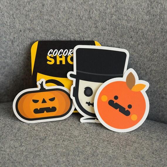 Cocorino Stickers Halloween, Halloween Stickers, cool Halloween stickers, Ghostbusters, Halloween vinyl stickers laptop, skateboard decals