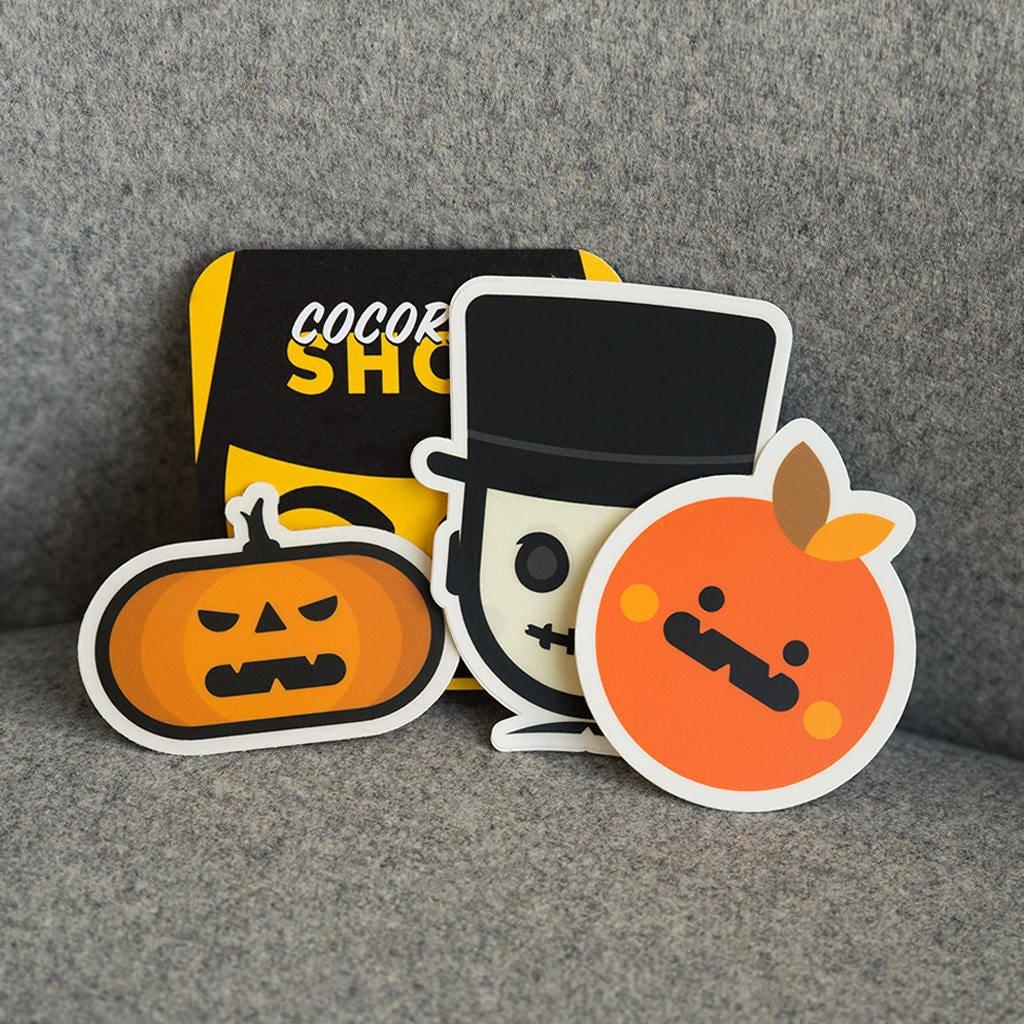 cocorino stickers halloween, halloween stickers, cool halloween