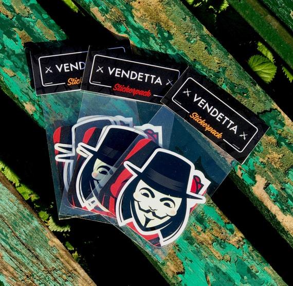 VENDETTA Stickers Pack, Vendetta Stickers, Cool Stickers, Laptop stickers, cool laptop stickers, iPhone stickers, V for Vendetta decal vinyl