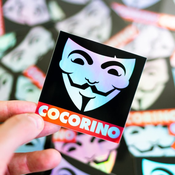 Holographic Cocorino Sticker, Cocorino Decal Stickers, Street Entertainer, Street Sticker, Stickers Deal, Dope Stickers, Legit Stickers