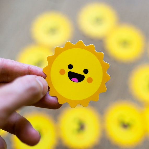 Smiling Sun Sticker