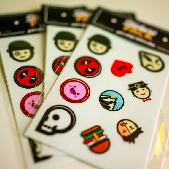 TINY STICKERS, Laptop stickers, small cool stickers, stickers for iPhone, notebook stickers, Skateboard, tini tiny stickers