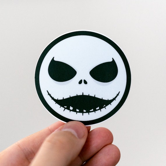 Jack Skellington inspired sticker, Nightmare Before Christmas, Skull Stickers, Halloween Stickers, Horror Stickers, Spooky Stickers, Burton