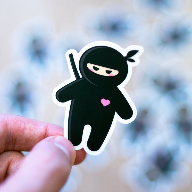 Ninja Sticker Ninja Decal Ninja Labels Party Favors image 0