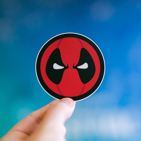 Deadpool inspired Stickers, Flask cool Stickers, Deadpool stickers, cool laptop stickers, Waterbottle Stickers, Computer water proof