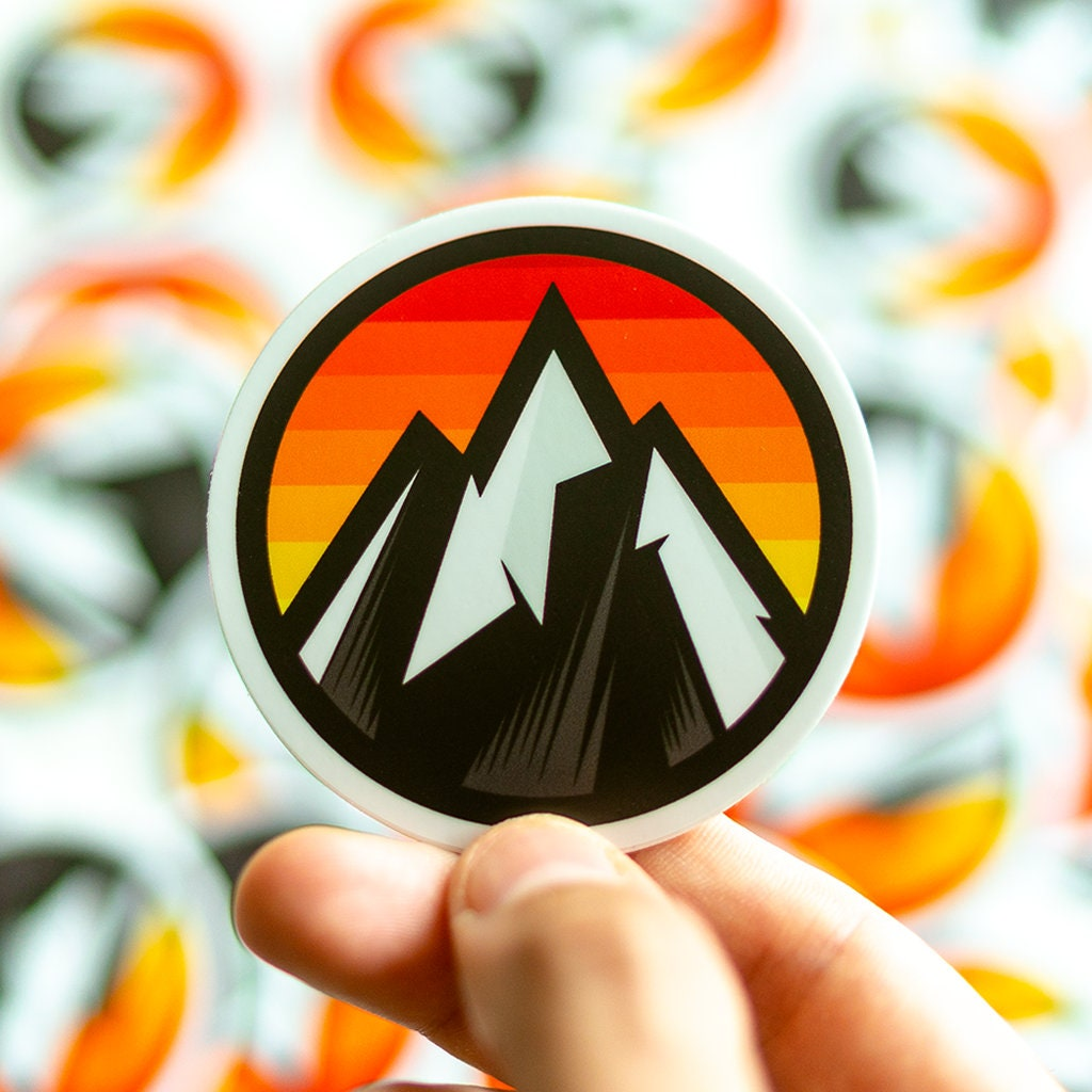 Everest sunrise sticker sunrise stickers cool stickers macbook laptop stickers mountain stickers stickers for outdoors everest decal
