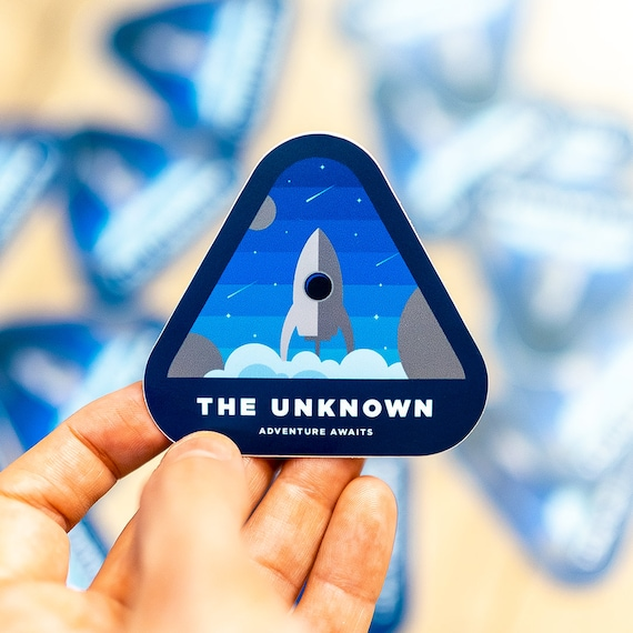 The Unknown, Space Stickers,  Rocket Outer Space Sticker, Designs Spaceship Rocket, Wall Decal, Sticker Art, Houston Rocket, Rocket Decal