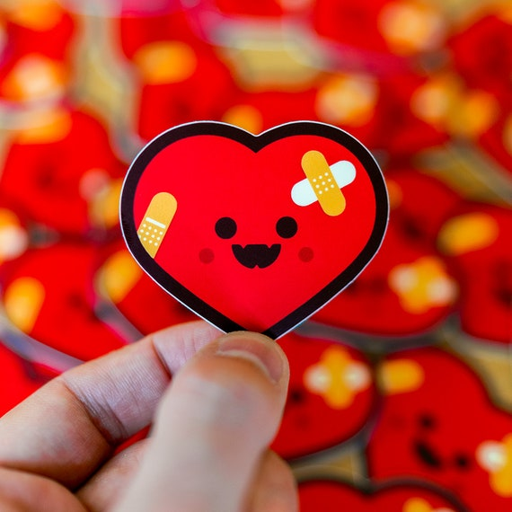 Heart Break, Glitter Red Heart, Stickers Envelope Seals, Stickers for Invitations, Favors and Crafts, Valentine Heart Decorative Sticker