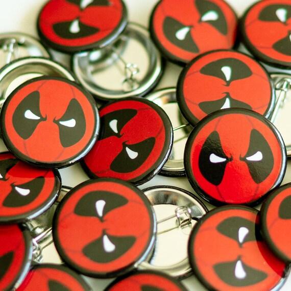 Deadpool Pin, cool enamel pin, Deadpool button badge, cool backpack badge, deadpool enamel pin, cool button badges, deadpool art