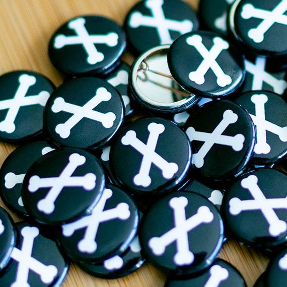 Crossed Bones, Badge Maker Machine, Personalised Badges, Pin Badges, Smiley Badges, Custom Badge Maker, lapel pin, Enamel Pin Manufacturers