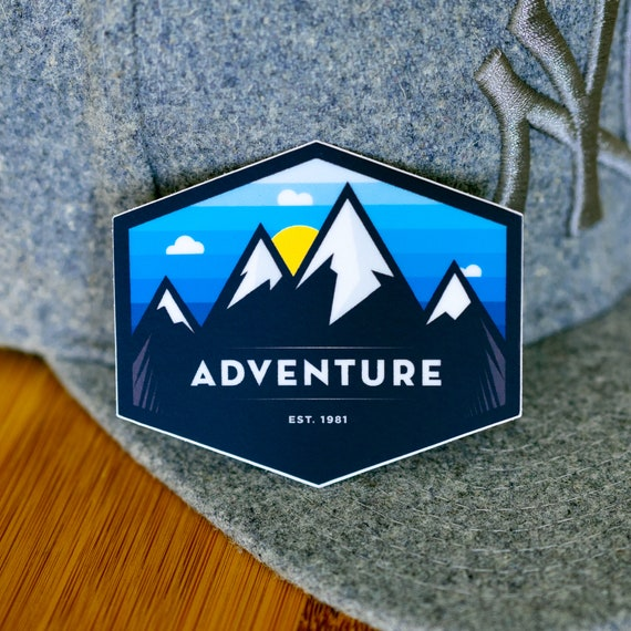 Adventure Sticker, Colorado Mountain Outdoor Sticker, CO Denver Boulder Fort Collins, Forest Mountains Adventure, Vinyl Sticker Waterproof