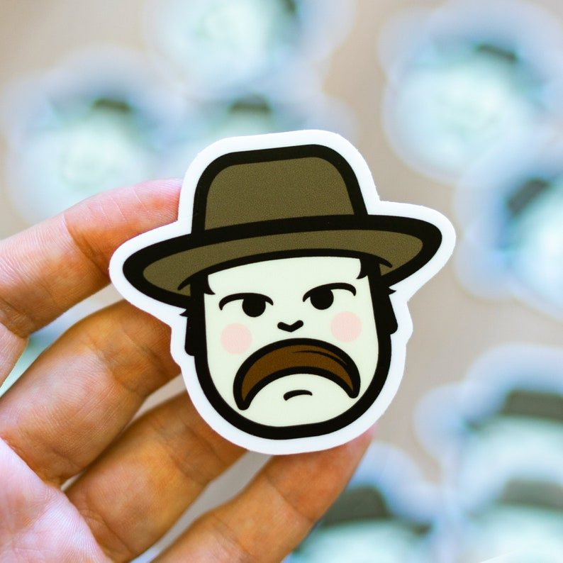 Hopper inspired sticker Hopper Sticker Stranger Things Vinyl image 0