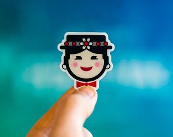 Mary Poppins inspired Sticker, Laptop Stickers, Awesome Stickers, Walt Disney Stickers, Buy Custom Stickers, iPhone Stickers, Disney Sticker