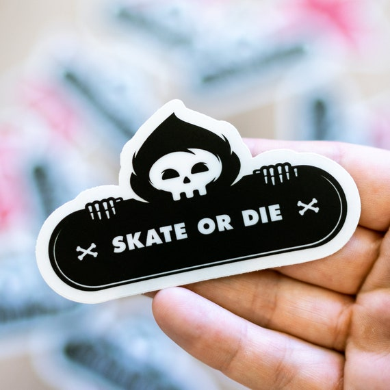 Skate or Die, Skateboard Stickers, Vintage Vinyl, Laptop Luggage Decals, Dope Sticker Mix Lot, Case Bulk Sticker Bomb, Pack Good Vibes