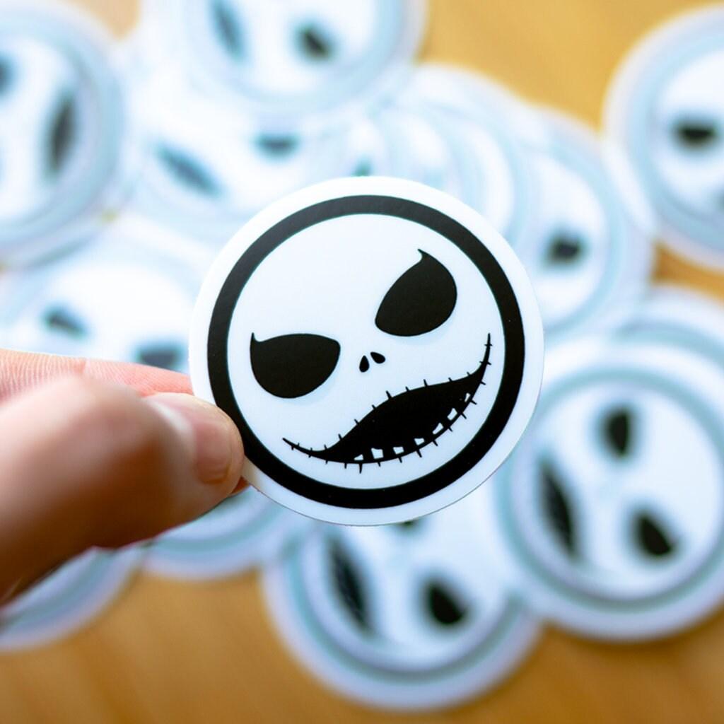 Jack Skellington inspired sticker, Nightmare Before Christmas, Skull Stickers, Halloween Stickers, Horror Stickers, Spooky Stickers, Burton
