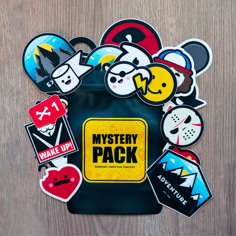 Mystery Pack Mystery Stickers Pack Waterbottle Stickers image 0