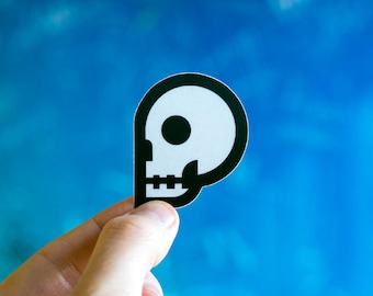 Cool Skull Sticker, Skull decal for Macbook Decal, Buy Skulls Stickers, Skulls Skater stickers, cool sticker for skateboard, cheap decals