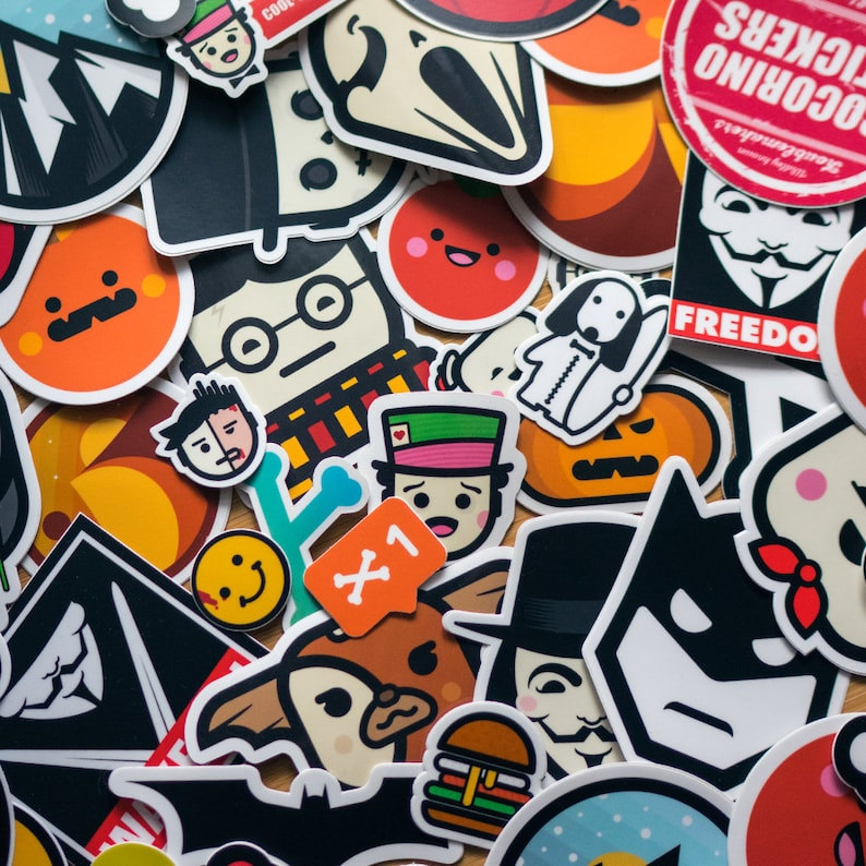 Full Collection of STICKERS Cool Decal 35 Stickers Vinyl image 0