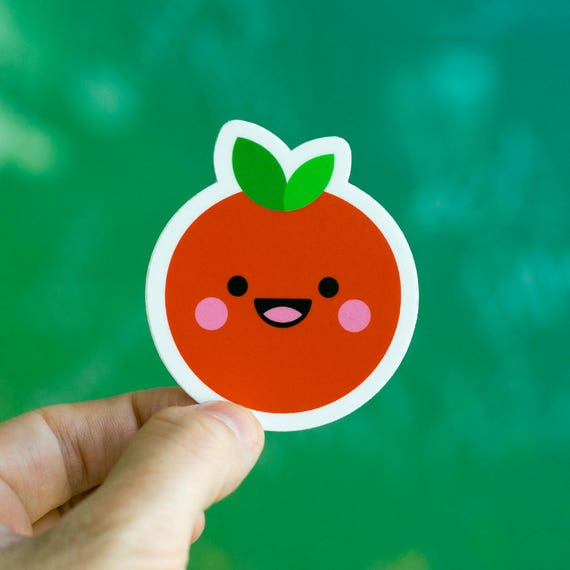 TOMATTE, Tomato Sticker, Macbook cool Sticker, Tomato Kawaii Phone Stickers, Kawaii iPhone stickers, tiny sticker, cool decal for laptop