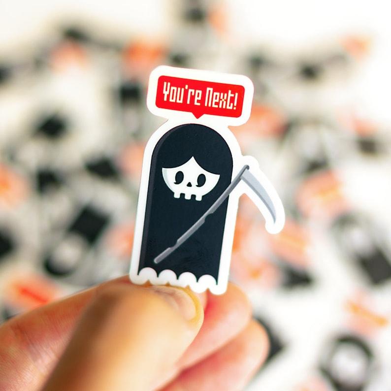 You're Next Sticker Reaper Sticker Santa Muerte Sticker image 0