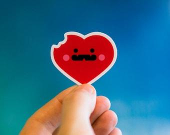 Love Bites Sticker, Heart Decals, Valentines Sticker, Valentines decals, Valentines Stickers, Heart Stickers, AirPods Sticker, AirPods Decal
