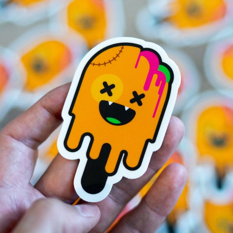 Zombie Ice Cream Ice Cream Sticker Zombie Outbreak Skull image 0