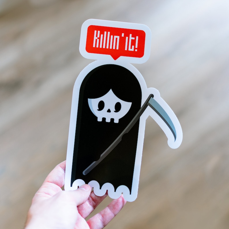 Killing it Bumper Sticker Decals & Magnets Automotive image 0