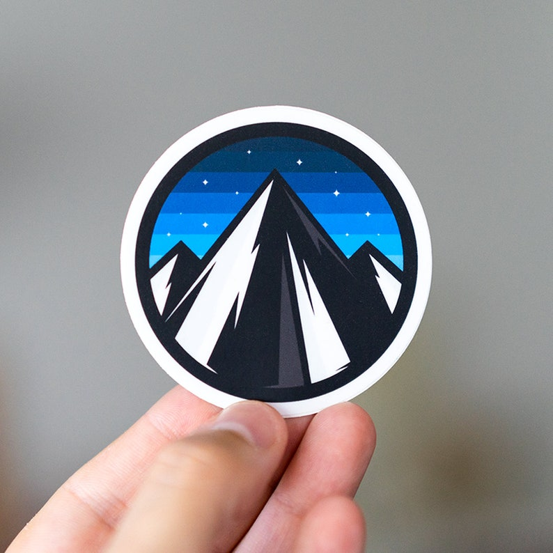 Peaks Adventure Awaits Sticker Windshield Sticker image 0