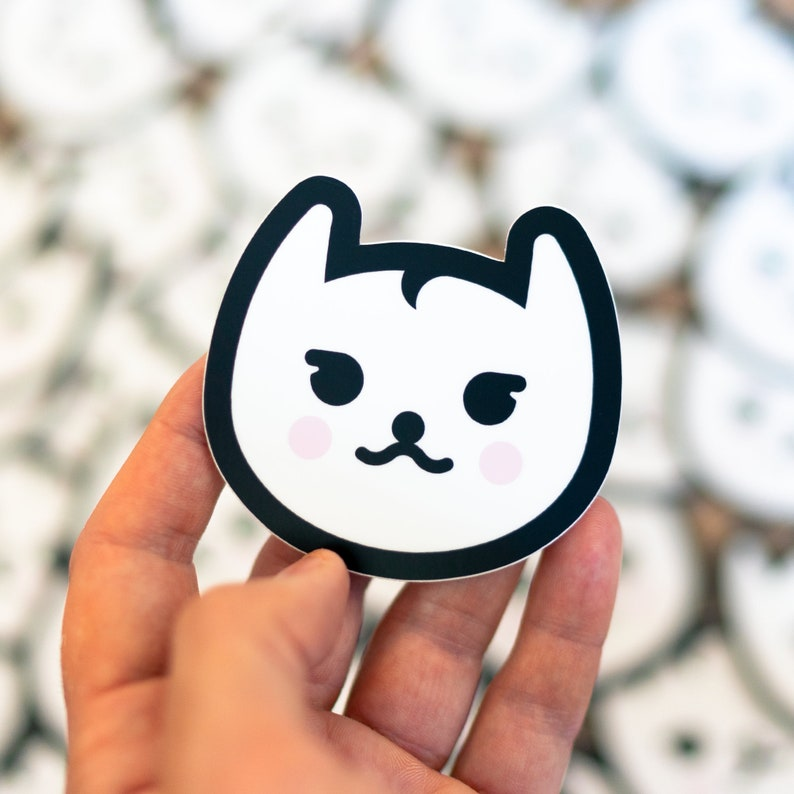 Cat Sticker cat stickers cat decals cat bumper stickers image 0