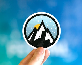 Adventure Sticker, Laptop Stickers, Cool Stickers, Cool Laptop stickers, Small Laptop Stickers, iPhone stickers, sticker for laptop, Everest