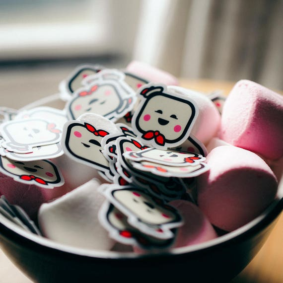 Tiny Puft Sticker, iPhone Stickers, Samsung Phone Stickers, Cool iPhone stickers, tiny sticker, Ghostbuster stickers, sticker for laptop,