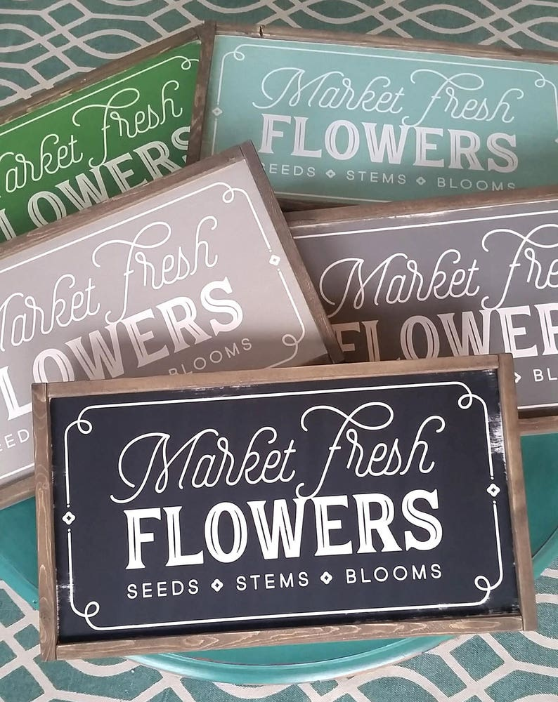 Market Fresh Flowers Sign Magnolia Market Fixer Upper Joanna Fresh Flower Market
