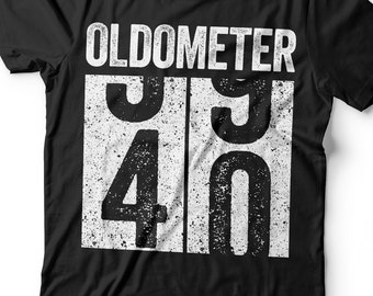 0c5aa2e2 Oldometer 40 T-Shirt - Unisex Funny 40 AF Mens 40 th Birthday Shirt - Born  in 1979 Gift Vintage TShirt